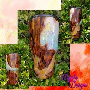 Other - Custom Wood Grain look Insulated Tumbler